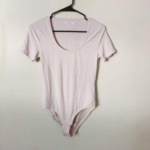Madewell Cameo Scoop Bodysuit Light Pink  Medium
